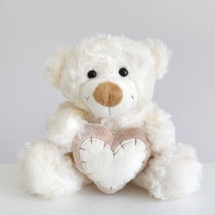 Olle Love Teddy Bear White